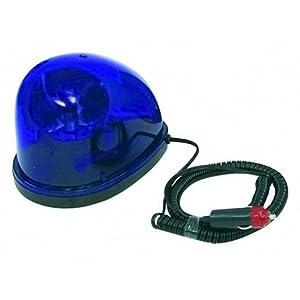 Blaues PolizeilichtEin Spezialreflektor rotiert um die Lampe12 V/21 W Bajonett Lampe bereits installiertRobuste TechnikAluminiumbeschichtete Bodenplatte, um Lackkratzer zu vermeidenAnschlussfertig - einfach Stecker in den Zigarettenanzünder, fertig!M...