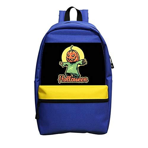 BagMothe Halloween Scarecrow Kinder Schulrucksack Büchertasche Student Fashion Taschen für Jungen Mädchen, blau (Blau) - PNPQ-LWM-9LM (Toten Handy Kostüm)