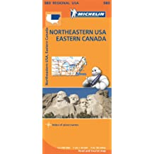 Mapa Regional Northeastern USA, Eastern Canada (Carte regionali)