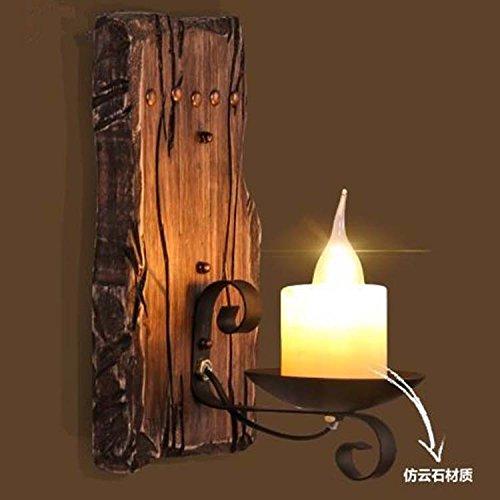 Ggrxa lampade da parete a parete di antiquariato lampade stile industriale lampada da parete ristorante candela in yuen road off la parte superiore della tavola, lampada da parete 40w