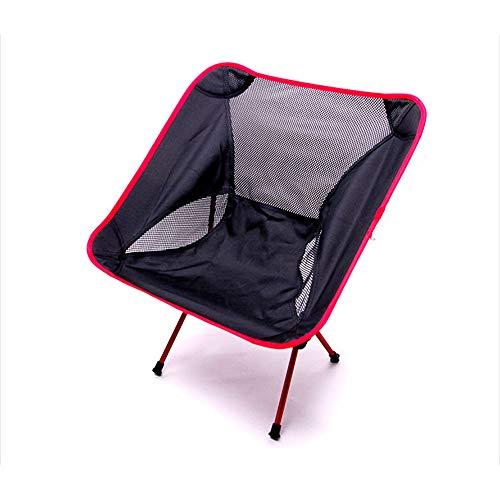 WJQ Outdoor Aluminium Moon Chair - Robuster und langlebiger Double Cross Builds Atmungsaktiv, weich und sicher - Belastbar bis zu 120 kg - Ideal für Strandangeltouren