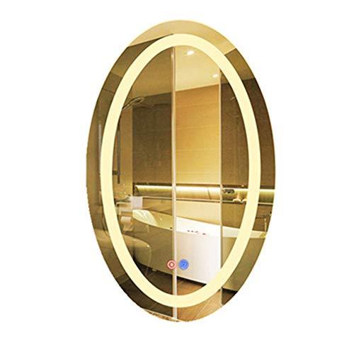 Espejo de iluminación LED ovalado HIL con espejo de luz y fregadero, sin...