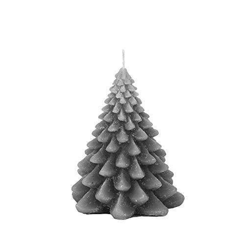 Broste Copenhagen Kerze Tannenbaum Christbaum Christmas Tree stahlgrau 13 cm Weihnachtskerze - Dekoidee - Geschenkidee - Weihnachtsdeko -