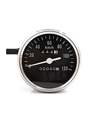 Zantec Moto analogique double Odomètre Gauge 0-120 km/H