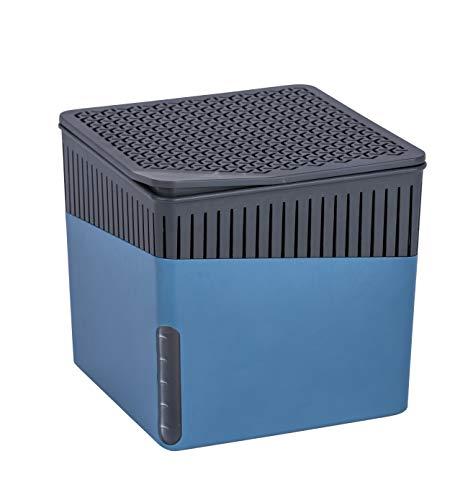 WENKO 50233100 Raumentfeuchter Cube, 500 g, Luftentfeuchter Fassungsvermögen: 0,8 l, 13 x 13 x 13 cm, blau -