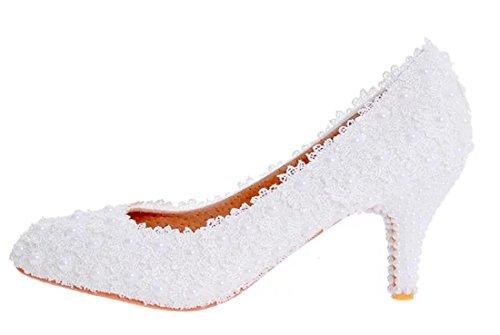 TDA , Semelle compensée femme 6cm Heel White