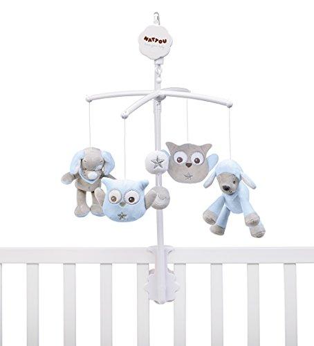 Nattou Mobile mit Musik für Babybett, Jungen, blau - Sam und Toby