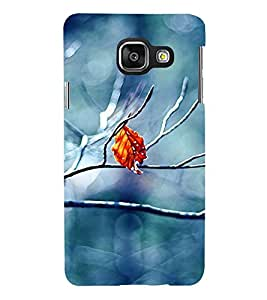 Takkloo beautiful picture of leaf blue background,brown leaf, beautiful click) Printed Designer Back Case Cover for Samsung Galaxy A7 (6) 2016 :: Samsung Galaxy A7 2016 Duos :: Samsung Galaxy A7 2016 A710F A710M A710Fd A7100 A710Y :: Samsung Galaxy A7 A710 2016 Edition