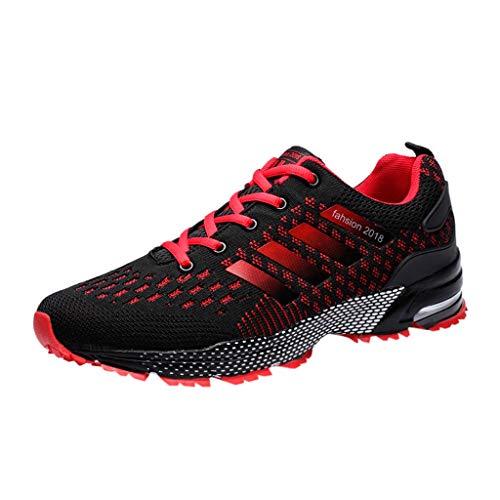 er Rot Sommer Cool Sport Schuhe Turnschuhe Schleicher Laufschuhe Mode Männer Streetwear Schuhe Joggingschuhe ()