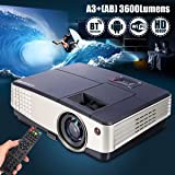 SLB Works Brand New Android Wifi Mini LED Home Theater Projector Bluetooth Movie HDMI USB VGA 1080P