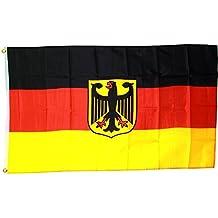MM Bandera/bandera alemania con águila, multicolor, 150x 90x 1cm, 16308