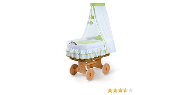 Fabimax stubenwagen bollerwagen xxl hanna grün weiß: amazon.de: baby
