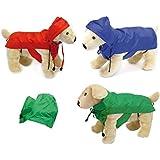 Trendy Dogs Impermeabile scozzese - K-way anti pioggia con cappuccio per cane, in più taglie