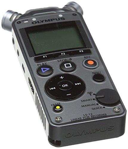 Olympus PCM LS-12 - Grabador de sonido digital portátil, color gris