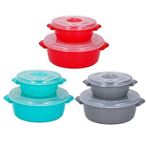 4 tlg. Mikrowellengeschirr Aufbewahrungsdosen Frischhaltedosen Küchenhelfer Schüssel Set
