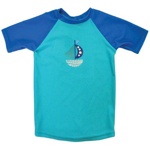 Splash About Mädchen T-Shirt, UV-Schutz Blau Set Sail 2 - 4 Jahre