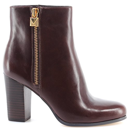 Women's Shoe Heel Boots MICHAEL KORS Margaret Bootie Leather 40F7MGHE6L Nutmeg