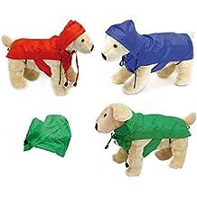 Trendy Dogs impermeable escocés K-way anti-lluvia con capucha para perros en varios tamaños turquesa Talla:70 cm