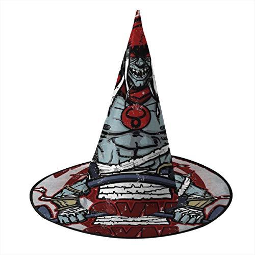 KUKHKU Schwarze Pyramide Gym Mumm Ra Thundercats Hexenhut Halloween Unisex Kostüm für Urlaub Halloween Weihnachten Karneval Party