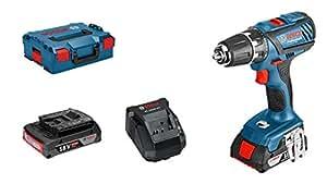 Bosch GSR 18-2-LI Plus Professional Avvitatore a Batteria, Batterie 2 x 2.0 Ah, 18 Volt, in L-Boxx