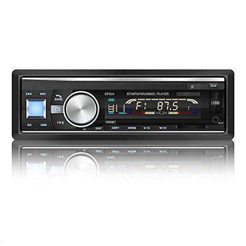 YOHOOLYO Radio Coche Bluetooth FM USB MP3 Audio Estéreo In-Dash WMA APE...