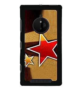 Red Star 2D Hard Polycarbonate Designer Back Case Cover for Nokia Lumia 830 :: Nokia Lumia 830 RM-984