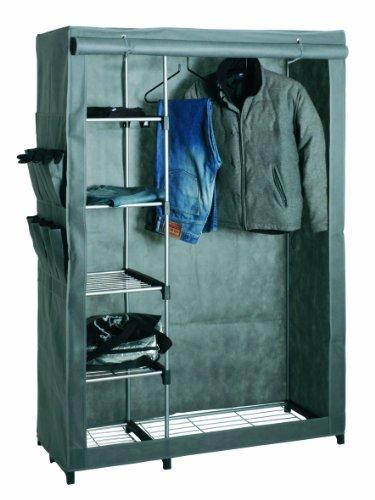 HAKU Möbel 44340 Standgarderobe 116 x 50 x 173 cm, alu  grau