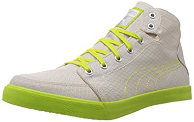 Puma Men's Drongos DP Gray Violet-Lime Punch-White Mesh Running Shoes - 10UK/India (44.5EU)