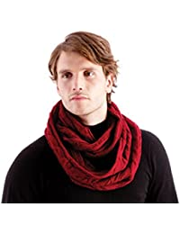 10 Pack Mens/Gentlemens (Warehouse Clearance) Snoods Jacquard Knitted, Wine