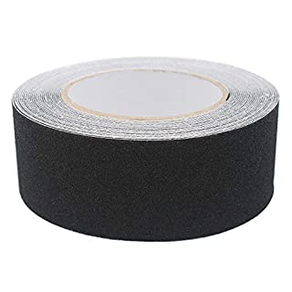 ARTGEAR Anti-Slip Safety Tape, Skid Tape Roll, High Traction Strong Grip Abrasive, Residue Free Adhesive, Use Indoor and Outdoor (50MM x 10M, Black)