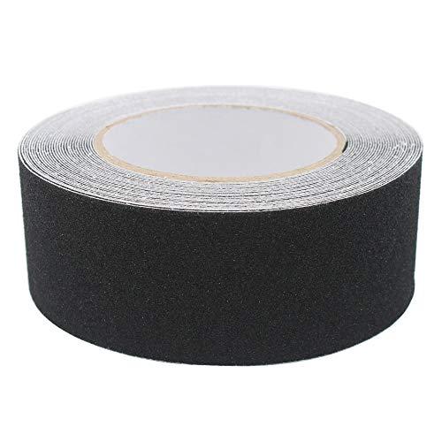 Gebildet® Nastro Adesivo Antiscivolo Nastro di sicurezza,5cm*10M,Interno/Esterno(nero)