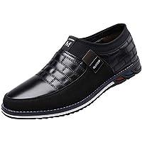 HNOOSTER - Zapatos de Piel para Hombre, Talla más Grande, Resistentes a los Labios, P99249RG7RZW50B17AG93, Black 08, 45