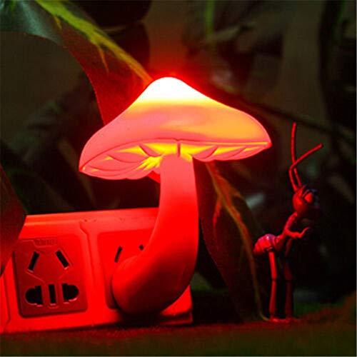 MA87 Bunte energiesparende Nachtlicht-Sensor-Kontrolllampe-Nachttischlampe des Pilz-LED (rot) -