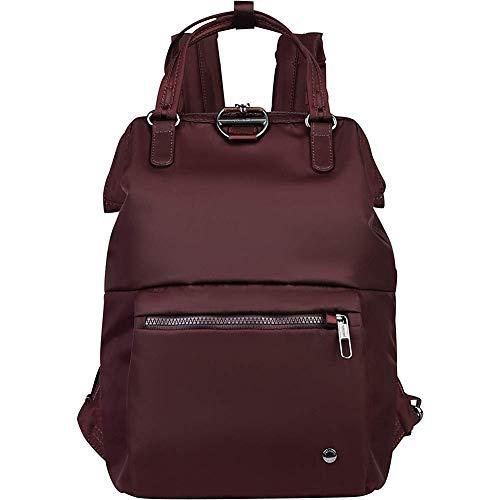 Pacsafe Citysafe CX Mini Backpack, Mini-Rucksack mit Diebstahlschutz, Rucksack mit Sicherheits-Features, 11 Liter, Weinrot/Merlot