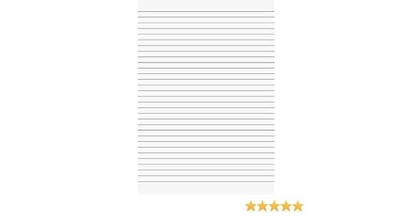 a righe Carta protocollo Brunnen 102100750 A4 80 g//mq 50 fogli bianco