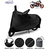 FABTEC Waterproof Taffeta Bike Body Cover for KTM Duke 390 with Storage Bag Combo (Multicolour)