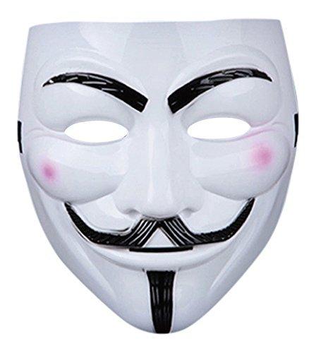 Kostüm Erwachsene PVC Qualität Maske mit Eslasticated Klettverschluss V für Vendetta Guy Fawkes Gesicht Maske ausgefallene Halloween erhältlich in 1-2-5 und 10 Multip-Packs Costumeplay von Ultra (5 (Für Schwarze Besten Halloween Kostüme Die Menschen)