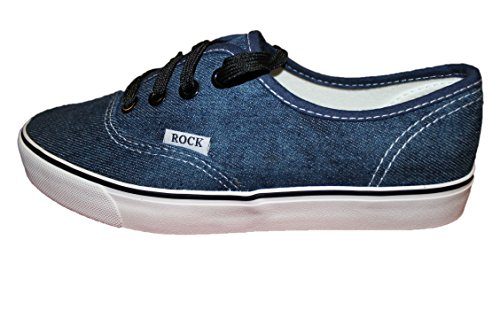 rock and joy-baskets slip_on-bleu-femme homme ou ados