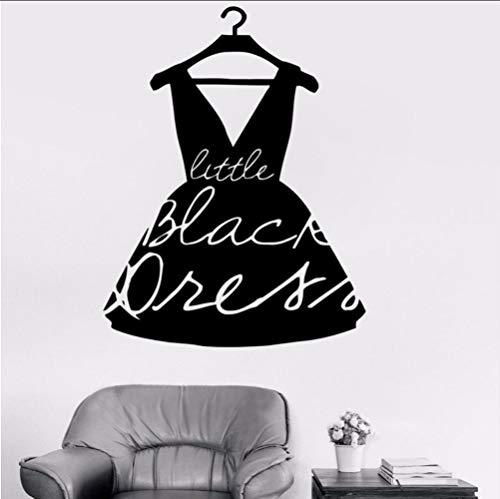 (hllhpc Mode Kleine Schwarze Kleid Stil Vinyl Aufkleber Mädchen Wandtattoo Für Kleidung Boutique Fenster Shop Wohnzimmer Wasserdicht 42 * 55 cm)