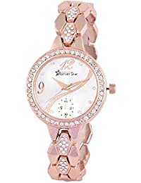 Roman Star RS1294 Rose Gold Coloured With Gold Chain Strap Quartz Watch For Women