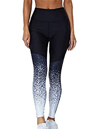 Yying Mujer Deportes Leggings Activo Fitness Running Yoga Pantalones Moda  Gradiente Cintura Alta Gimnasio Polainas Tramo f2f2627a6752