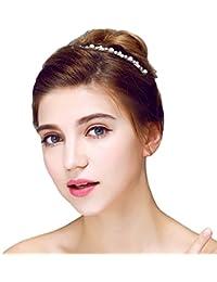 YAZILIND elegante tocado nupcial corona diadema cordon cubicos Zorconia de pelo de la boda accesorios mujeres y ninas