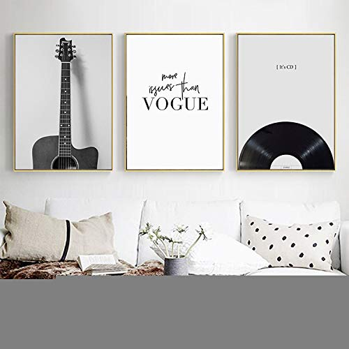 WICOEB Sala De Estar En Blanco Y Negro Instrumento