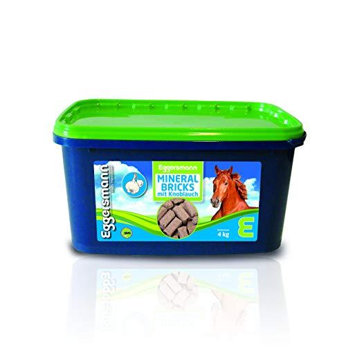 Eggersmann Mineral Bricks Knoblauch für Pferde, Mineralergänzungsfuttermittel, Mineral Bricks mit Knoblauch gegen Insekten, 1-er Pack (1 x 4 kg) -