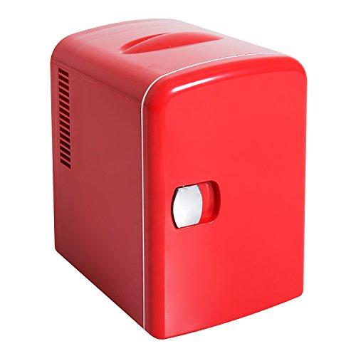 Homcom Mini Kühlschrank Kühlbox Warmhaltebox mit Wärmefunktion 4 Liter Auto Rot L28 x B20 x - Mini-kühlschrank-bier-flaschen