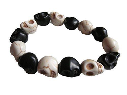 quality-carved-stone-gothic-skull-jewellery-bracelet-hand-crafted-howlite-punk-style-bracelet-elasti