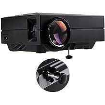 Tera Z-GM60-Mini - Proyector portátil multimedia (720p HD, mando a distancia, USB/VGA/ HDMI/ AV), color negro
