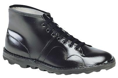 Preisvergleich Produktbild Grafters Monkey Boot - Herren Stiefel Original Retro Schwarz - Schwarz,  Leder,  46