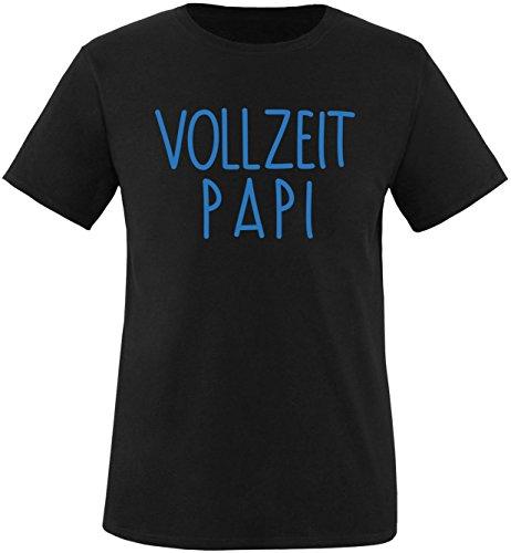 EZYshirt® Vollzeit Papi Herren Rundhals T-Shirt Schwarz/Blau