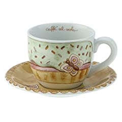 Idea Regalo - Thun Sweetcake Tazza Colazione, Porcellana, Multicolore, 25 x 21.7 x 12 cm
